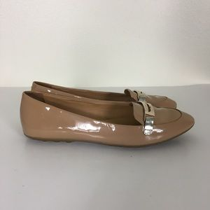 Coach Nude Patent Leather Ruthie Loafer Flats
